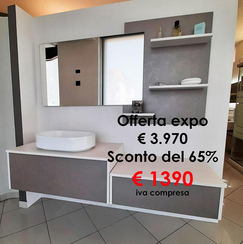 Offerta Mobile bagno cm 180 completo di specchio, luce led, lavabo appoggio-barbati bagno